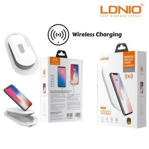 LDNIO 10000mAh Qi Wireless Charger Power Bank External Battery