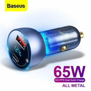 Baseus Digital Display QC+PPS Quick Car Charger 65W Output CCKX-C0A