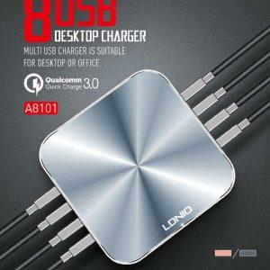 LDNIO A8101 QC3.0 50W 8 Ports Desktop Charger