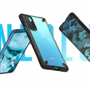 Ringke Fusion X Plastic Back Cover OnePlus Nord - Camo - Turquoise Blue