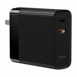 BASEUS BS-CHT901 Charger and Power Bank 2-in-1 5000mAh 15W (Type-C+USB Dual Output) - CN Standard Plug / Black