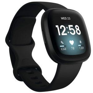 Fitbit Versa 3 - Black / Black Aluminum