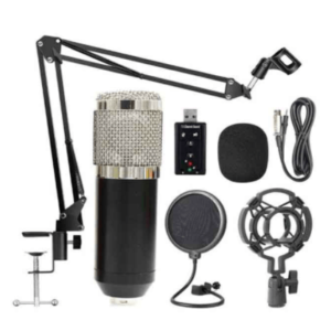 BM800 Professional Suspension Microphone Kit Studio Live Stream Broadcasting Recording Condenser Microphone Set