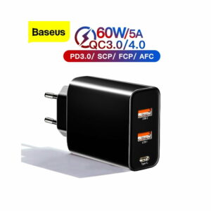 Baseus Speed PPS Three Output PD3.0+QC3.0 Type-C 60W 5A Quick Adaptor CCFS-G01 - baseus