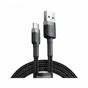 Baseus cafule Cable USB For Type-C 3A 1M Gray+Black CATKLF-BG1