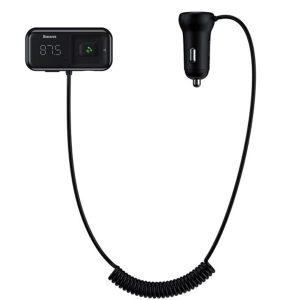 Baseus S-16 FM Transmitter Bluetooth 5.0 2x USB Car Charger AUX MP3 TF Micro SD 3