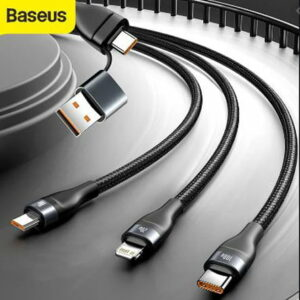 Baseus Flash Series Two For Three 100W Data Cable USB/Type-C High Power CA2T3-G1 - baseus