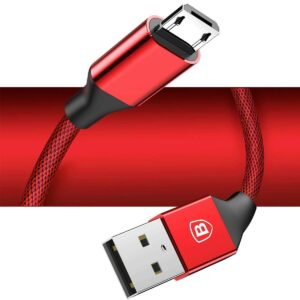 Baseus Yiven Micro USB Data Charging Braided Cable 1M - Red