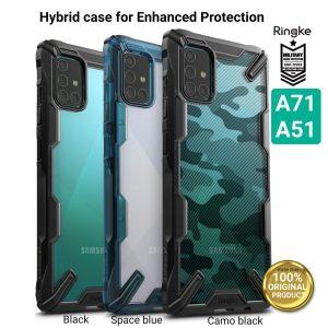 Ringke Fusion X Plastic Back Cover Samsung Galaxy A71 - Camo Black