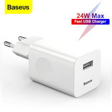 Baseus 24W Quick Charge 3.0 USB Charger For Samsung Xiaomi Huawei Fast Charging QC 3.0 Travel Mobile Phone Charger EU US Plug