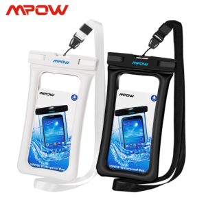 Mpow Universal Waterproof Pouch Case 2 PACK (1 Black + 1 White)