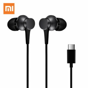 Xiaomi Piston Type-C Earphone In-Ear Stereo Aluminum Alloy Earbuds Headphone With Mic - Black