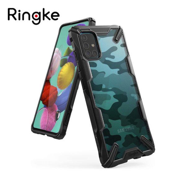 Ringke Fusion X Plastic Back Cover Samsung Galaxy A51 - Camo Black