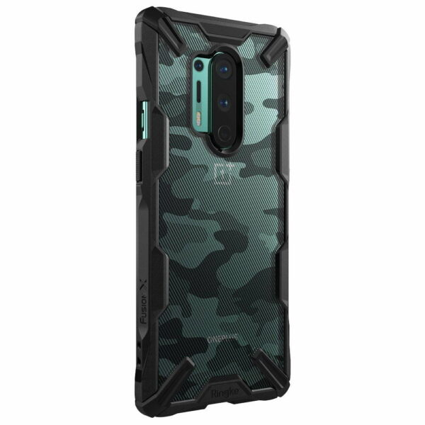 Ringke Fusion X Plastic Back Cover OnePlus 8 Pro - Camo Turquoise Green