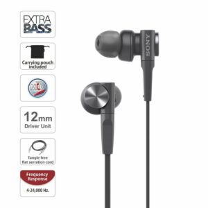 Sony Extra Bass MDR-XB55AP In-Ear Headphones - Black
