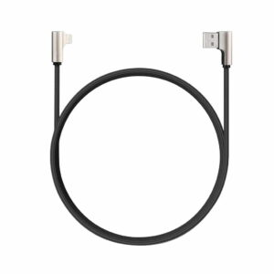 Aukey 90 Degree Nylon USB-A To Lightning Cable Black (CB-BAL6)
