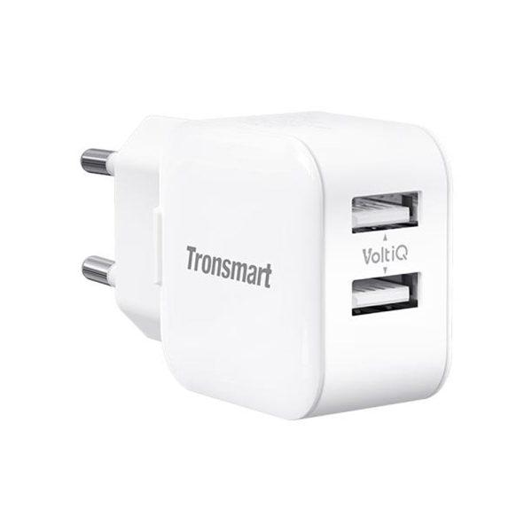 Tronsmart W02 Dual Port USB Wall Charger 12W VoltiQ - White