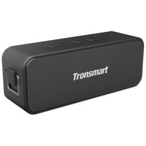 Tronsmart T2 Plus 20W Bluetooth 5.0 Speaker 24H Playtime NFC IPX7 Waterproof Soundbar - Black