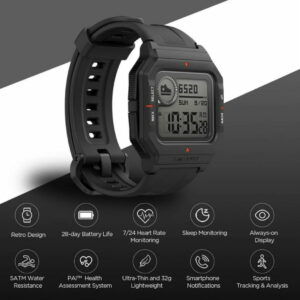 Amazfit Neo Smart Watch Bluetooth Smartwatch 5ATM Heart Rate Tracking 28Day
