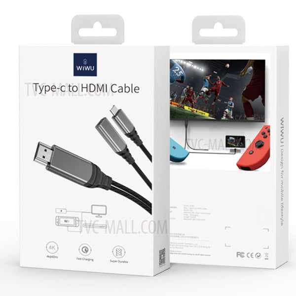 WIWU X10 Type-C To HDMI Multi-Function Data Cable