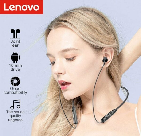 Lenovo QE03 Neckband Bluetooth Earphone Active Noise Cancellation 5.0V
